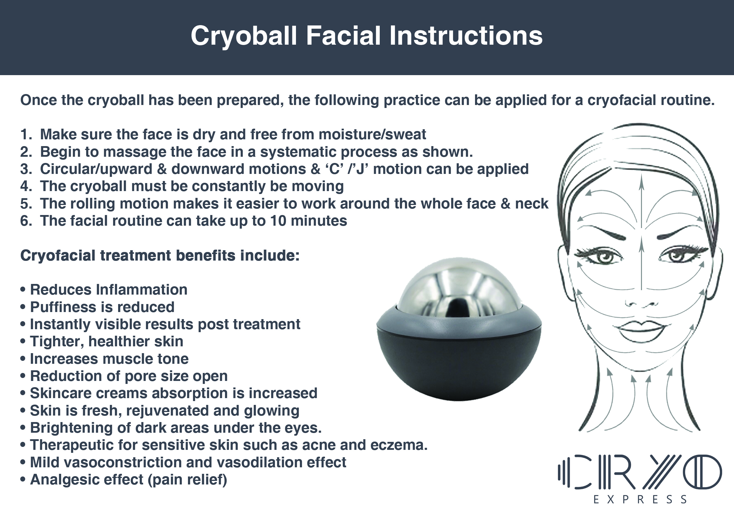 Cryo ball Facial Instructions