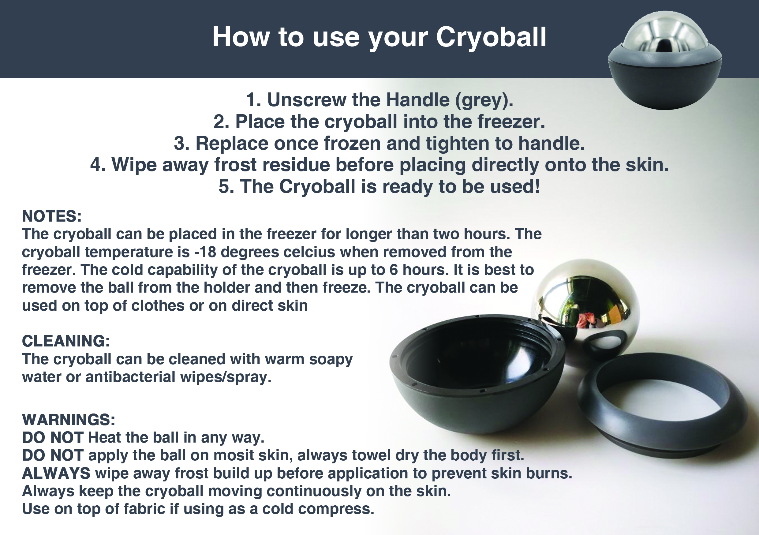How to use your Cryo ball